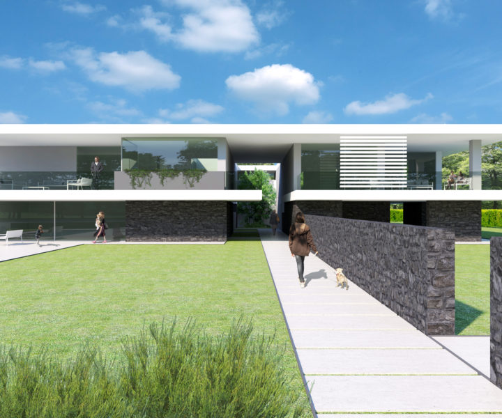 Rendering villa Sant'Eurosia